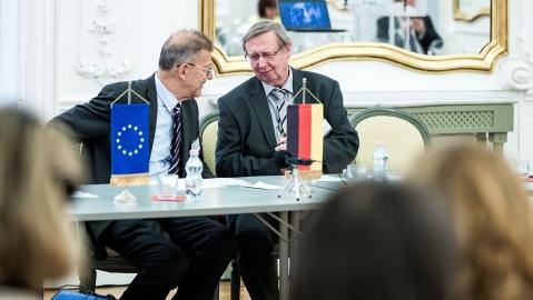 Prof. Dr. András Masát - Rektor der Andrássy Universität Budapest a.D. und Prof. Dr. Dietmar Meyer - Rektor der Andrássy Universität Budapest seit 2017