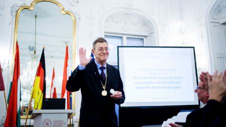 Amtsübergabe des Rektors der Andrássy Universität Budapest