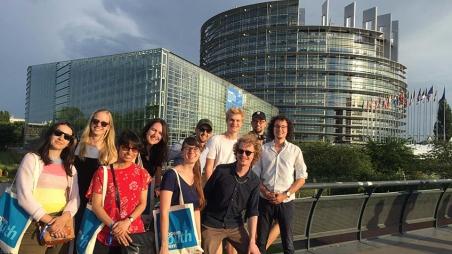 Das Europaparlament aus nächster Nähe
