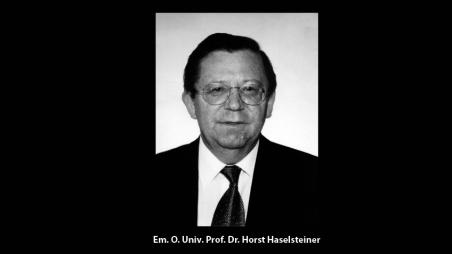 Trauer um Horst Haselsteiner
