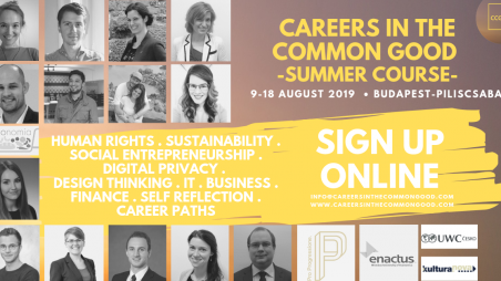 Careers in The Common Good - Summer course
