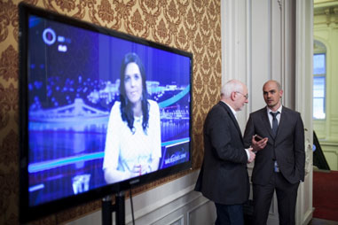 Ungarn hat gewählt! Wahlabend an der Andrássy Universität Budapest anlässlich der ungarischen Parlamentswahlen