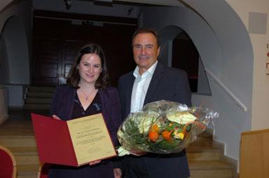 Fred Sinowatz-Wissenschaftspreis an Ursula Mindler verliehen
